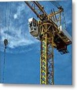 Construction Crane Asia Metal Print