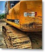 Construction Excavator In Hdr 1 Metal Print