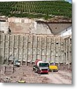 Construction Site On The Hill Metal Print