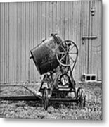 Construction - Vintage Cement Mixer Metal Print