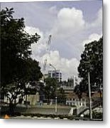 Construction Work Ongoing In Singapore Metal Print