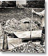 Construction Worker Metal Print