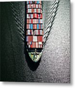 Container Ship Bow Metal Print