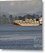 Container Ship In Halong Bay Metal Print by Sami Sarkis