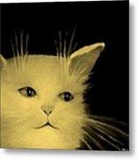 Contemplative Cat   No.3 Metal Print