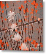 Contemporary Art - Butterfly Kisses - Luther Fine Art Metal Print