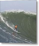 Contestant In The 2010 Mavericks Surf Contest Metal Print