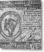Continental Currency, 1777 Metal Print