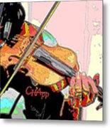 Contorno Fiddle II Metal Print