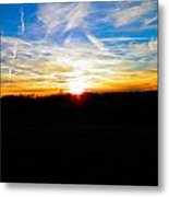 Contrail Sunset Metal Print