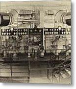 Control Board Engine Room Queen Mary Ocean Liner Long Beach Ca Heirloom Metal Print
