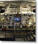 Control Board Engine Room Queen Mary Ocean Liner Long Beach Ca Metal Print
