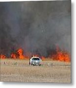 Controlled Burn And Brush Truck Metal Print