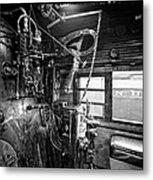 Controls Of Steam Locomotive No. 611 C. 1950 Metal Print