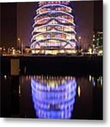 Convention Centre Dublin By Night Metal Print