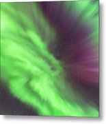 Converging Curtains Of Aurora Metal Print