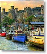 Conwy Castle And Harbour Metal Print