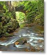 Cook Forest Stream Under The Bridge Metal Print