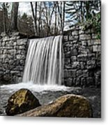 Cook Forest Waterfall Metal Print