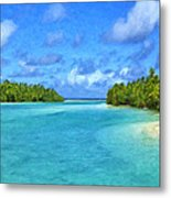 Cook Islands Lagoon Metal Print
