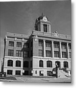 Cooke County Courthouse Bw Metal Print