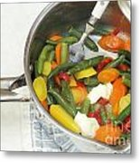 Cooked Mixed Vegetables Metal Print