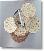 Cookie Cutter With Dough Rounds Metal Print