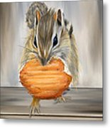 Cookie Time- Squirrel Eating A Cookie Metal Print