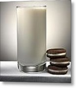 Cookies And Milk Metal Print by Robert Mollett