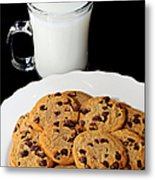 Cookies - Milk - Chocolate Chip - Baker Metal Print by Andee Design
