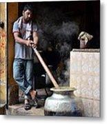 Cooking Breakfast Early Morning Lahore Pakistan Metal Print