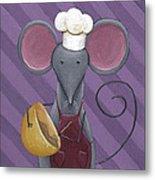Cooking Mouse Kitchen Art Metal Print
