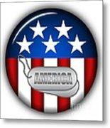 Cool America Insignia Metal Print
