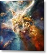 Cool Carina Nebula Pillar 4 Metal Print by Jennifer Rondinelli Reilly - Fine Art Photography