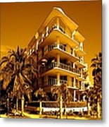 Cool Iron Building In Miami Metal Print