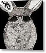 Cool Rabbit Metal Print