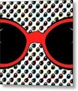 Cool Retro Red Sunglasses Metal Print