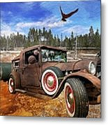 Cool Rusty Classic Ride Metal Print