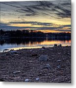 Cool Winter Sunset Metal Print