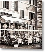 Cooling Off In Sepia Metal Print by Christina Klausen