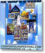 Cooper Young Festival Poster 2008 Metal Print