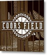 Coors Field - Colorado Rockies 15 Metal Print by Frank Romeo