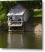 Coosa River Fishing Hut   #9548 Metal Print