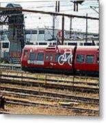 Copenhagen Commuter Train Metal Print