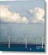 Copenhagen Wind Turbines Metal Print