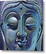 Copper Buddha Metal Print