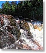 Copper Falls Metal Print