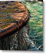 Copper Spill Metal Print