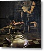 Copper Teapot Metal Print by Debra and Dave Vanderlaan
