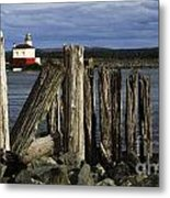 Coquille Lighthouse Oregon 3 Metal Print